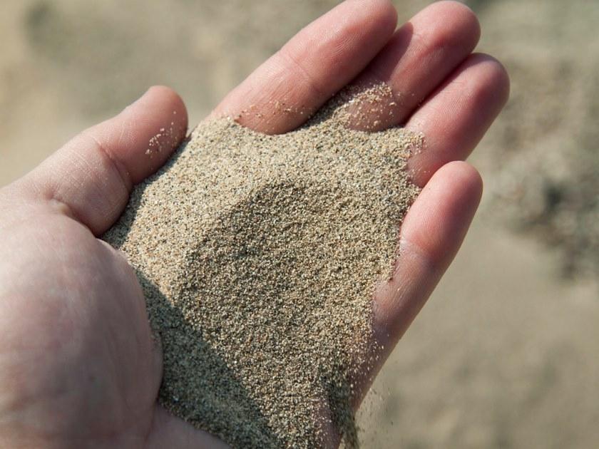 фото речной песок